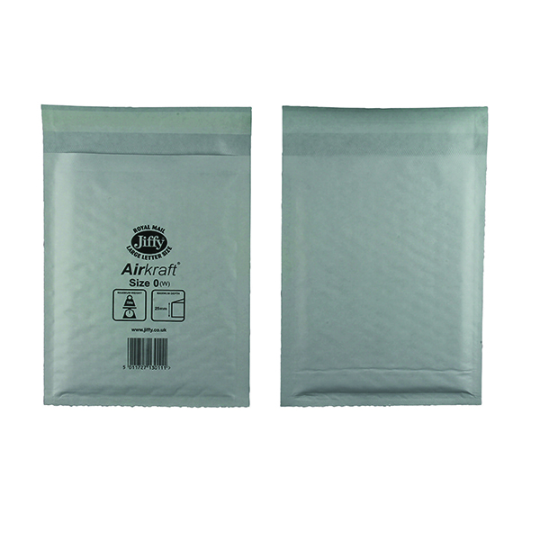Bubble Jiffy AirKraft Bag Size 0 140x195mm White (100 Pack) JL-0