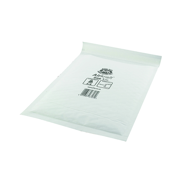 Bubble Jiffy AirKraft Bag Size 1 170x245mm White (100 Pack) JL-1
