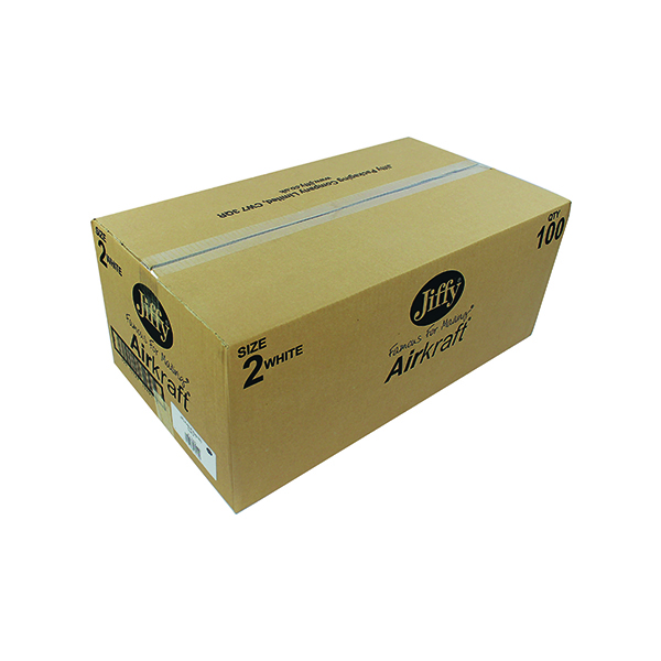 Jiffy AirKraft Bag Size 2 205x245mm White (100 Pack) JL-2