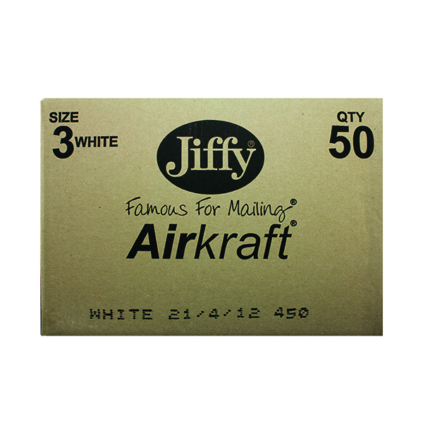 Bubble Jiffy AirKraft Bag Size 3 220x320mm White (50 Pack) JL-3
