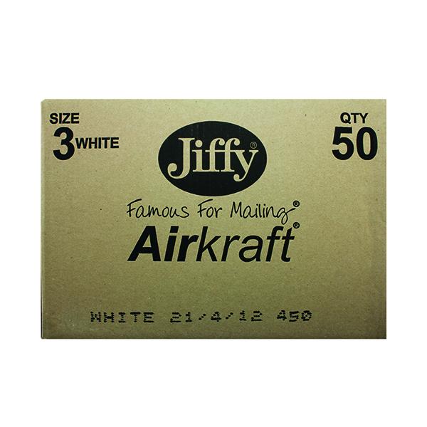 Jiffy AirKraft Bag Size 3 220x320mm White (50 Pack) JL-3