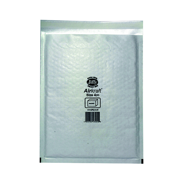 Bubble Jiffy AirKraft Bag Size 4 240x320mm White (50 Pack) JL-4