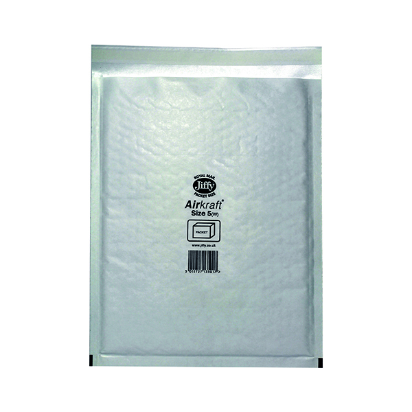 Bubble Jiffy AirKraft Bag Size 5 260x345mm White (50 Pack) JL-5
