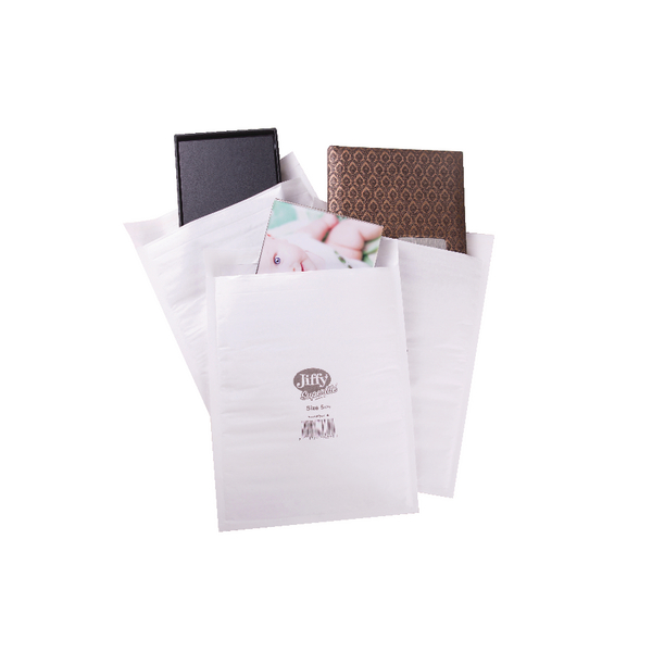 Jiffy Superlite Foam Lined Mailer Size 5 260x345mm White (100 Pack) MBSL02805