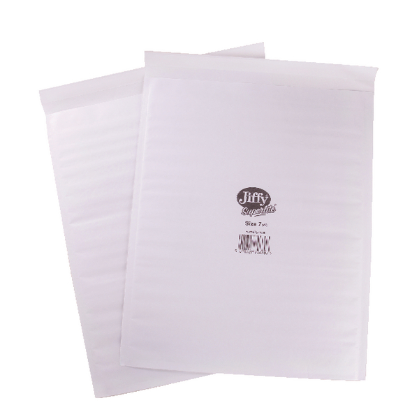Bubble Jiffy Superlite Foam Lined Mailer Size 7 340x435mm White (100 Pack) MBSL02807