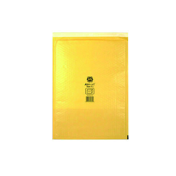 Jiffy AirKraft Bag Size 7 340x445mm Gold GO-7 (10 Pack) MMUL04606