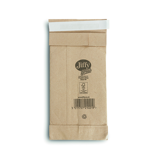 Jiffy Padded Bag Size 00 105x229mm Gold PB-00 (200 Pack) JPB-00