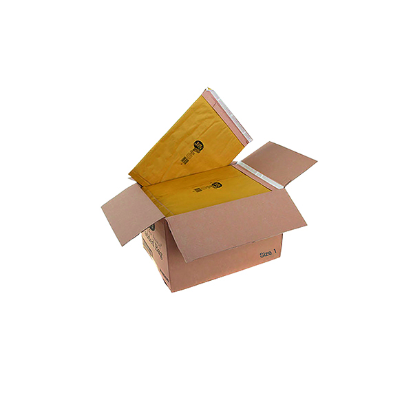 Padded Jiffy Padded Bag Size 1 165x280mm Gold PB-1 (100 Pack) JPB-1