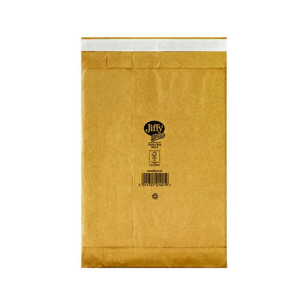 Padded Jiffy Padded Bag Size 4 225x343mm Gold PB-4 (100 Pack) JPB-4