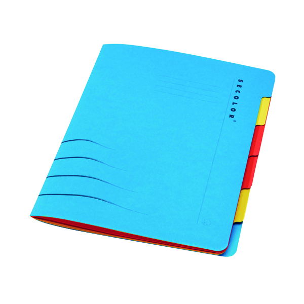 A4 Jalema Secolor Sixtab 6- Part File A4 Blue (5 Pack) 8331600-10791