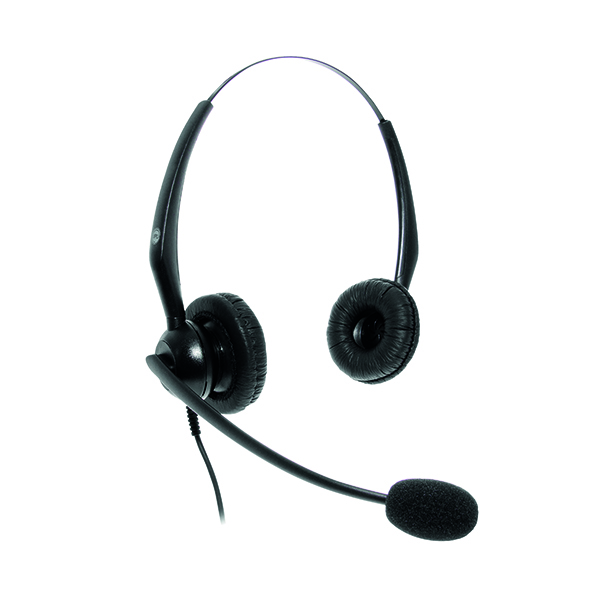Headsets JPL JACPLUS Binaural HeadBand Black JAC-PLUS-RJ11-B