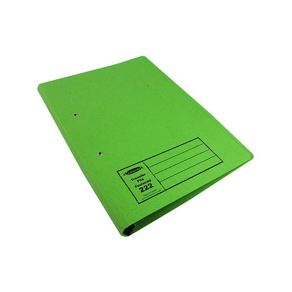 Exacompta Guildhall Transfer File 285gsm Foolscap Green (25 Pack) 346-GRNZ