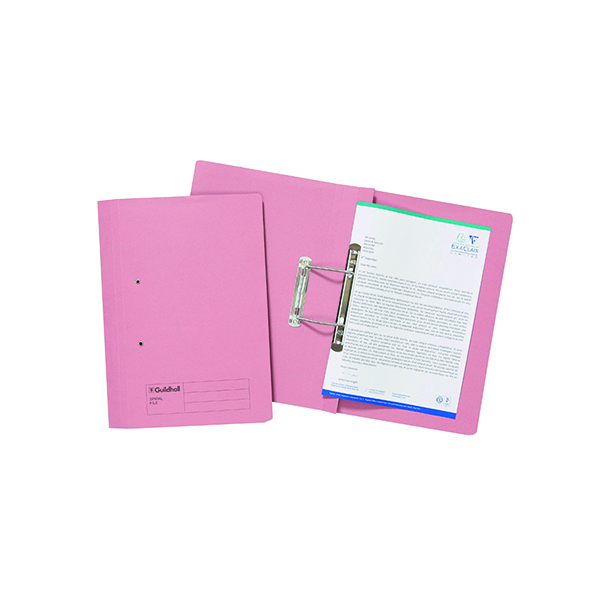 Exacompta Guildhall Transfer File 285gsm Foolscap Pink (25 Pack) 346-PNKZ