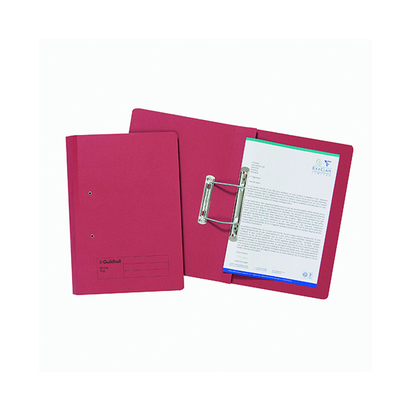 Exacompta Guildhall Transfer File 285gsm Foolscap Red (25 Pack) 346-REDZ