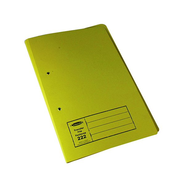 Exacompta Guildhall Transfer File 285gsm Foolscap Yellow (25 Pack) 346-YLWZ