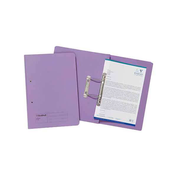 Exacompta Guildhall Transfer File 285gsm Foolscap Mauve (25 Pack) 346-MVEZ