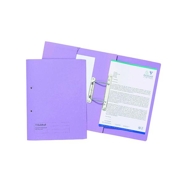 Exacompta Guildhall Transfer Spiral Pocket File 315gsm Foolscap Mauve (25 Pack) 349-MVEZ