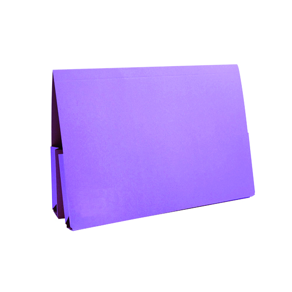 Exacompta Guildhall Mauve Double Pocket Legal Wallet Foolscap (25 Pack) 37214