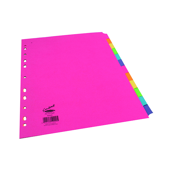Concord 12-Part Subject Divider Bright A4 Assorted 50999