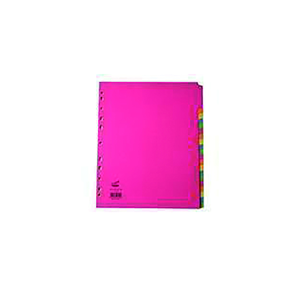 Concord 20-Part Subject Dividers Extra Wide Bright A4 Assorted (10 Pack) 52399