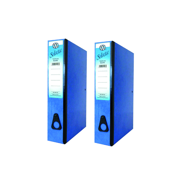 Box Files Concord IXL Selecta Box File Foolscap Blue (10 Pack) BOGOF JT16014