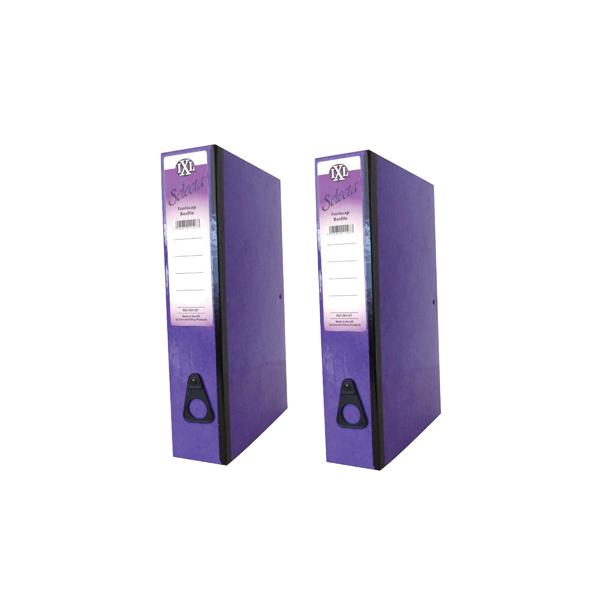 Box Files Concord IXL Selecta Box File Foolscap Purple (10 Pack) BOGOF JT816015