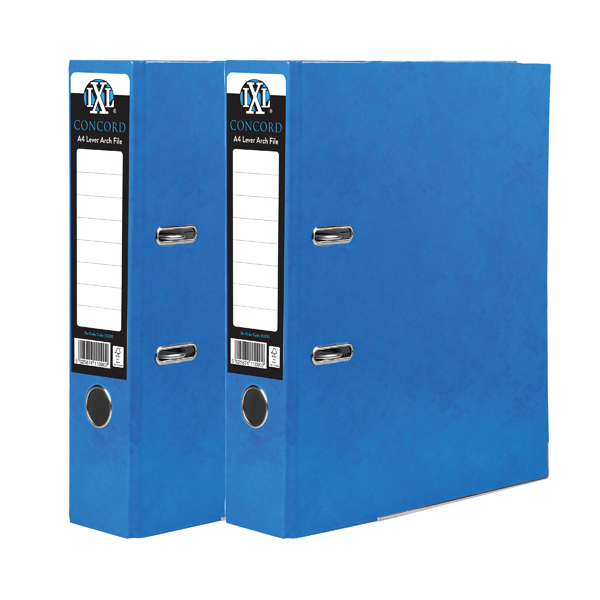 Concord IXL 70mm Selecta Lever Arch File A4 Blue (10 Pack) BOGOF JT816017