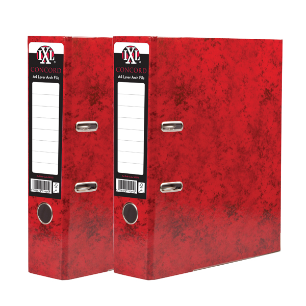 Concord IXL 70mm Selecta Lever Arch File A4 Red (10 Pack) BOGOF JT816018