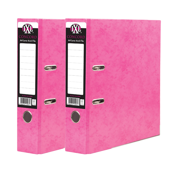 Concord IXL 70mm Selecta Lever Arch File A4 Pink (10 Pack) BOGOF JT816021