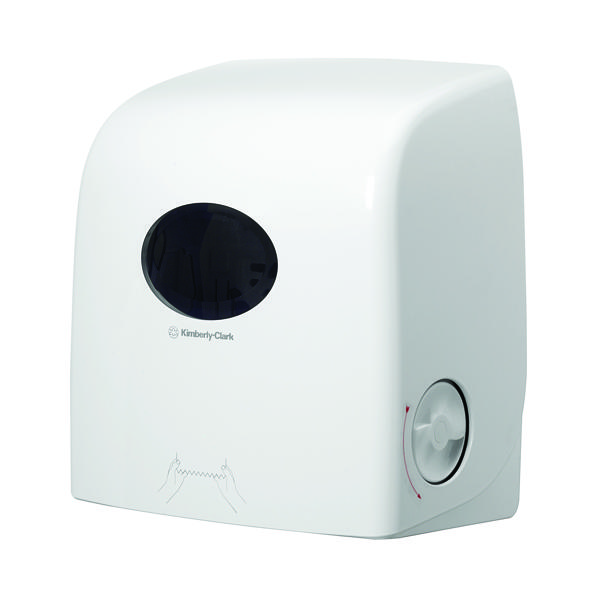 Toilet Tissue & Dispensers Aquarius White Slimroll Hand Towel Dispenser 6953