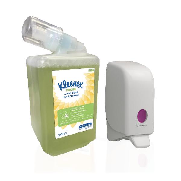 Kleenex Fresh Hand Cleanser 1 Litre (6 Pack) plus FOC Aquarius Dispenser KC832087