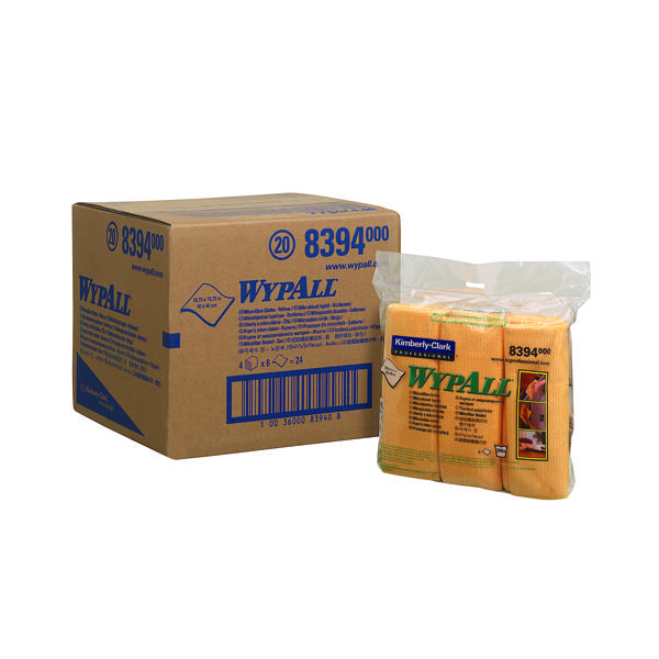 Wypall Microfibre Cloth Yellow (6 Pack) 8394