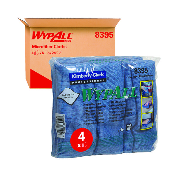 Wypall Microfibre Cloth Blue (6 Pack) 8395