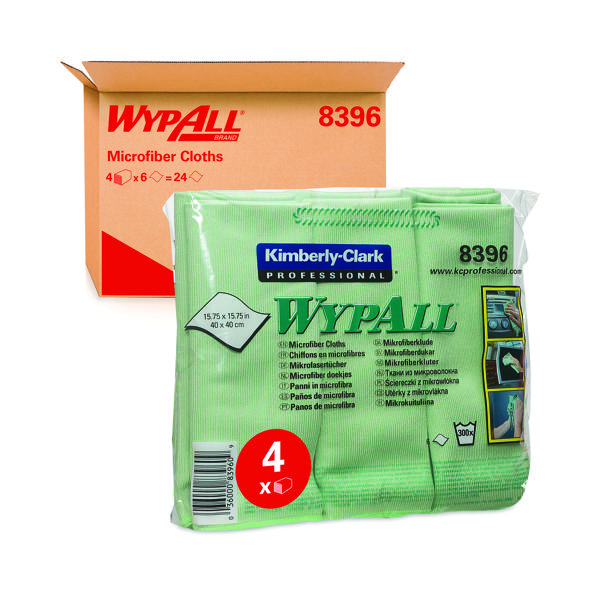 Wypall Microfibre Cloth Green (6 Pack) 8396