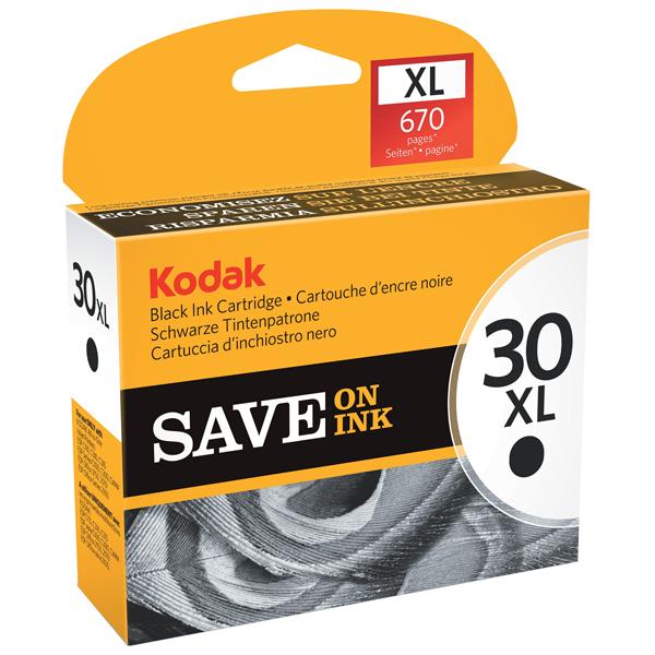 Kodak 30BXL Black Inkjet High Yield Cartridge 30BXL
