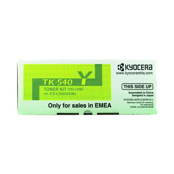 Kyocera TK-540Y Yellow Toner Cartridge 1T02HLAEU0