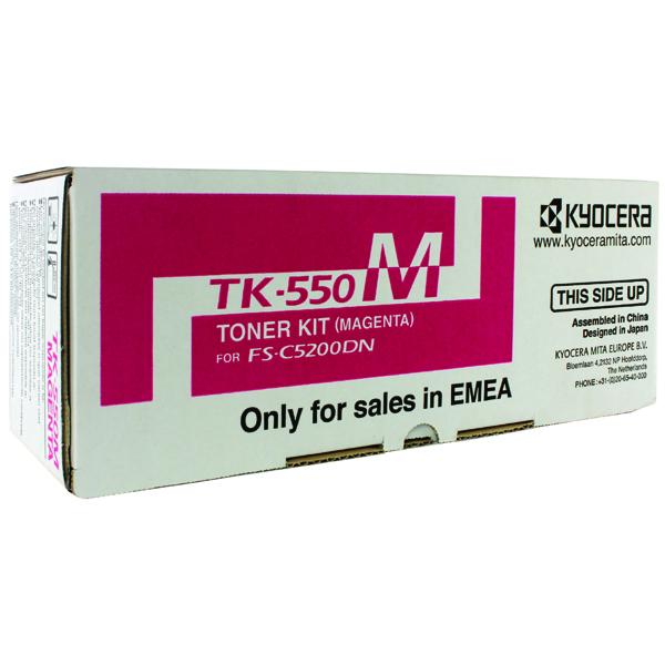 Kyocera TK-550M Magenta Toner Cartridge 1T02HMBEU0
