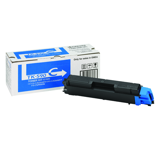 Kyocera Cyan TK-590C Toner Cartridge