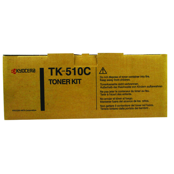 Kyocera Cyan High Yield Toner Cartridge TK-510C