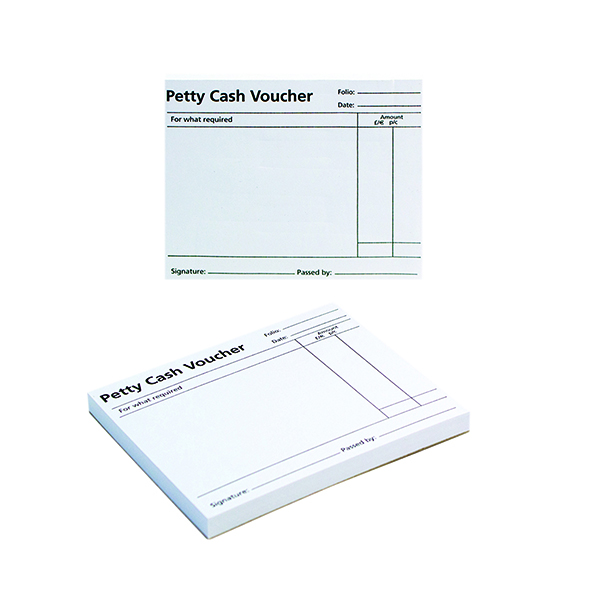 Q-Connect Petty Cash Voucher Pad 125x101mm (10 Pack) KF00103