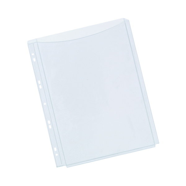 A4 Q-Connect Expanding Punched Pocket Full Length Front A4 (5 Pack) KF00138