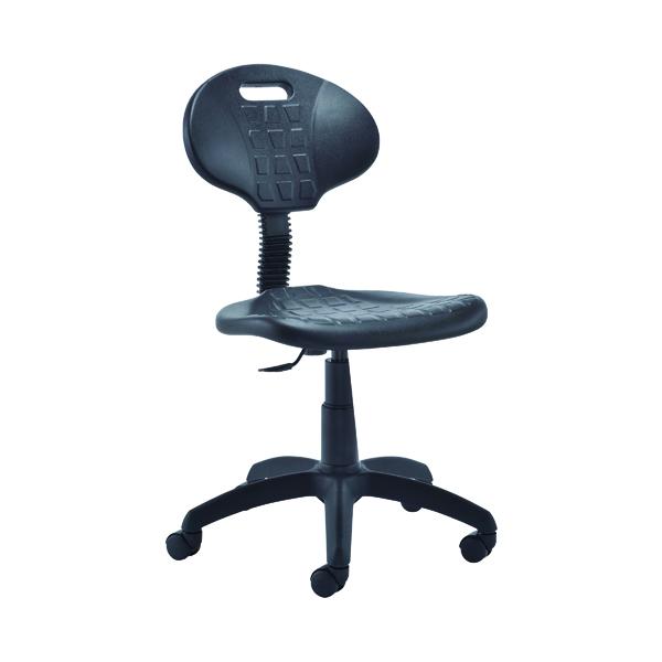 Industrial Jemini Factory Chair Polyurethane Black KF00197