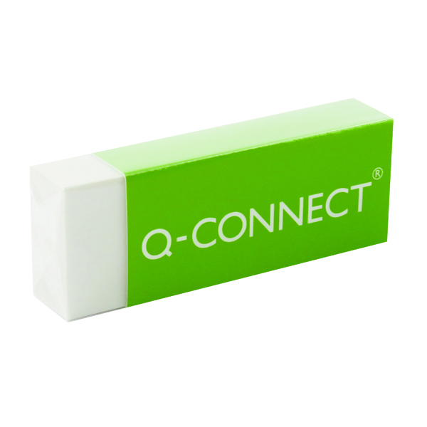 Q-Connect Plastic Eraser White (20 Pack) KF00236