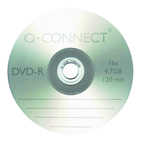DVD Q-Connect DVD-R 4.7GB Cake Box (25 Pack) KF00255