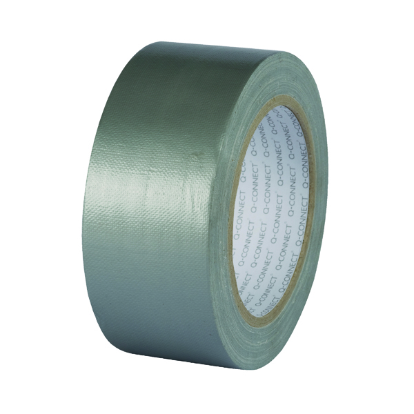 50mm Q-Connect Silver Duct Tape 48mmx25m Roll KF00290