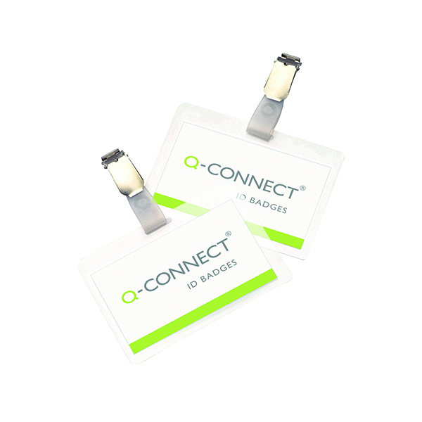 Other Sizes Q-Connect Hot Laminating ID Badge With Clip (25 Pack) KF00302