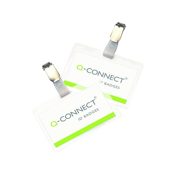 Laminating Film & Pockets Q-Connect Hot Laminating ID Badge With Clip (25 Pack) KF00302