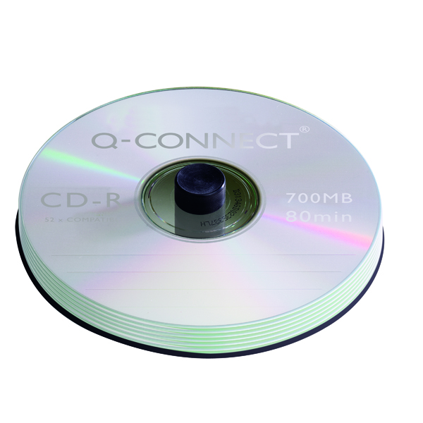 CD Q-Connect CD-R 700MB/80minutes Spindle (50 Pack) KF00421
