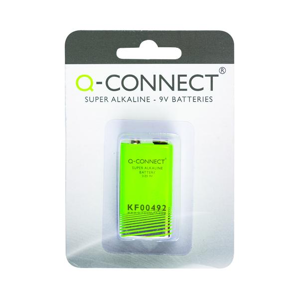 9V Q-Connect 9V Alkaline Battery KF00492