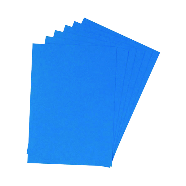 Unspecified Q-Connect A4 Blue Leathergrain Comb Binder Cover (100 Pack) KF00500